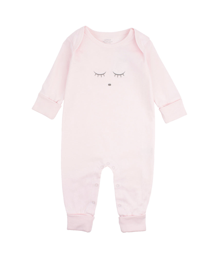 SLEEPING CUTIE COVERALL PINK