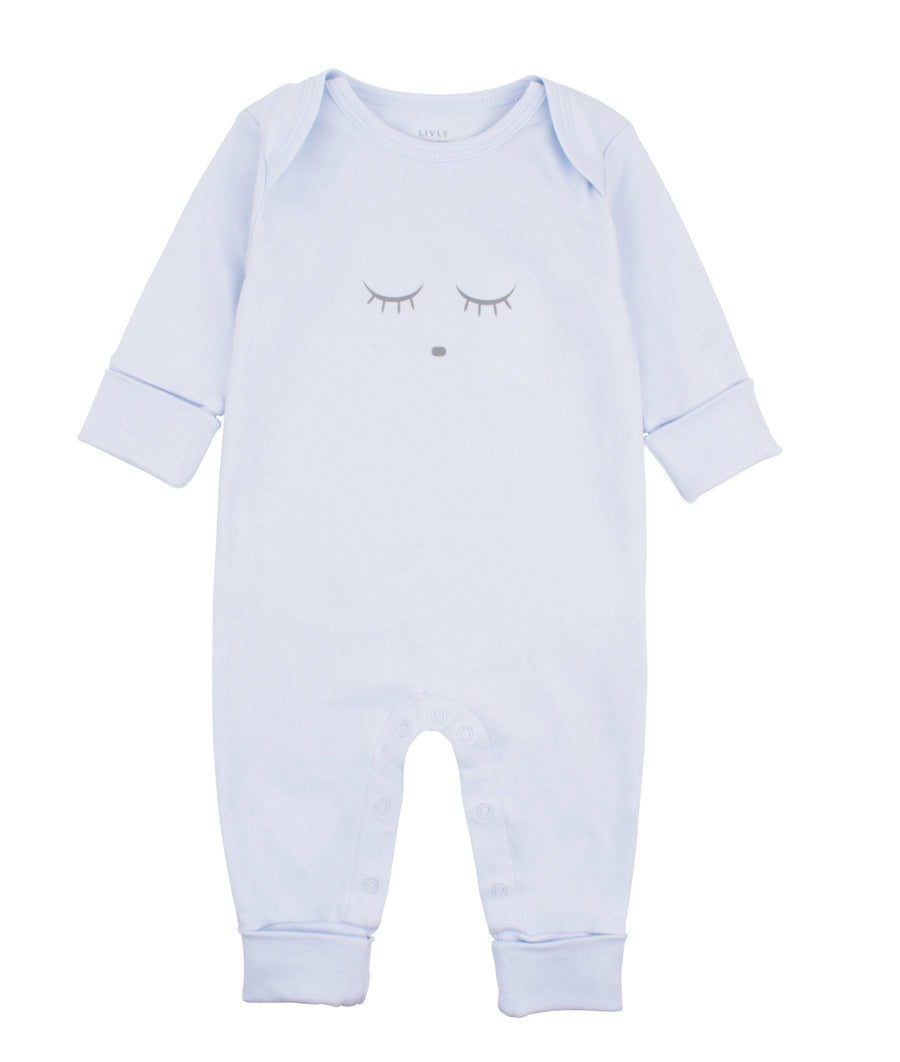 SLEEPING CUTIE COVERALL BLUE