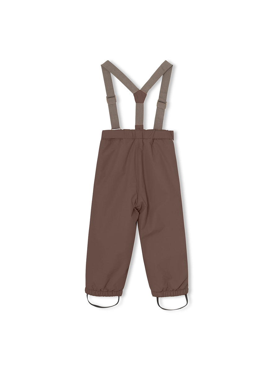 WILAS SUSPENDERS PANTS DARK CHOCO