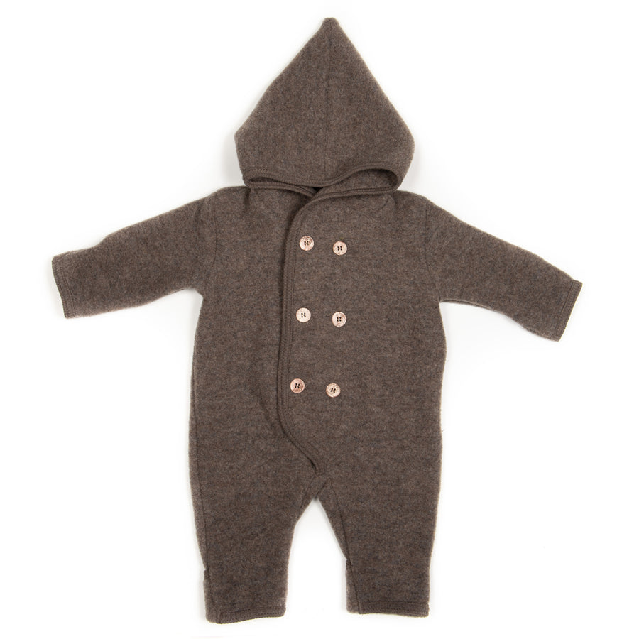 ELF BABYSUIT WOOL FLEECE MARMO BROWN