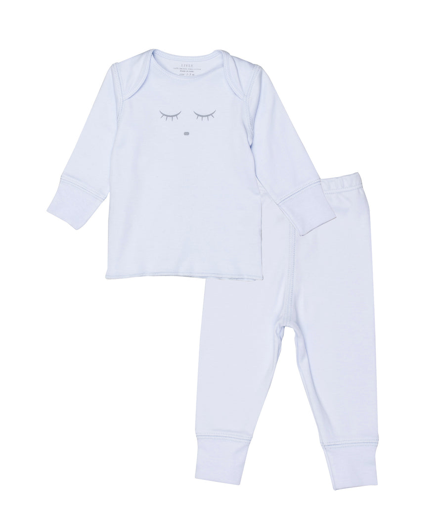 SLEEPING CUTIE 2-PIECE SET LYSEBLÅ