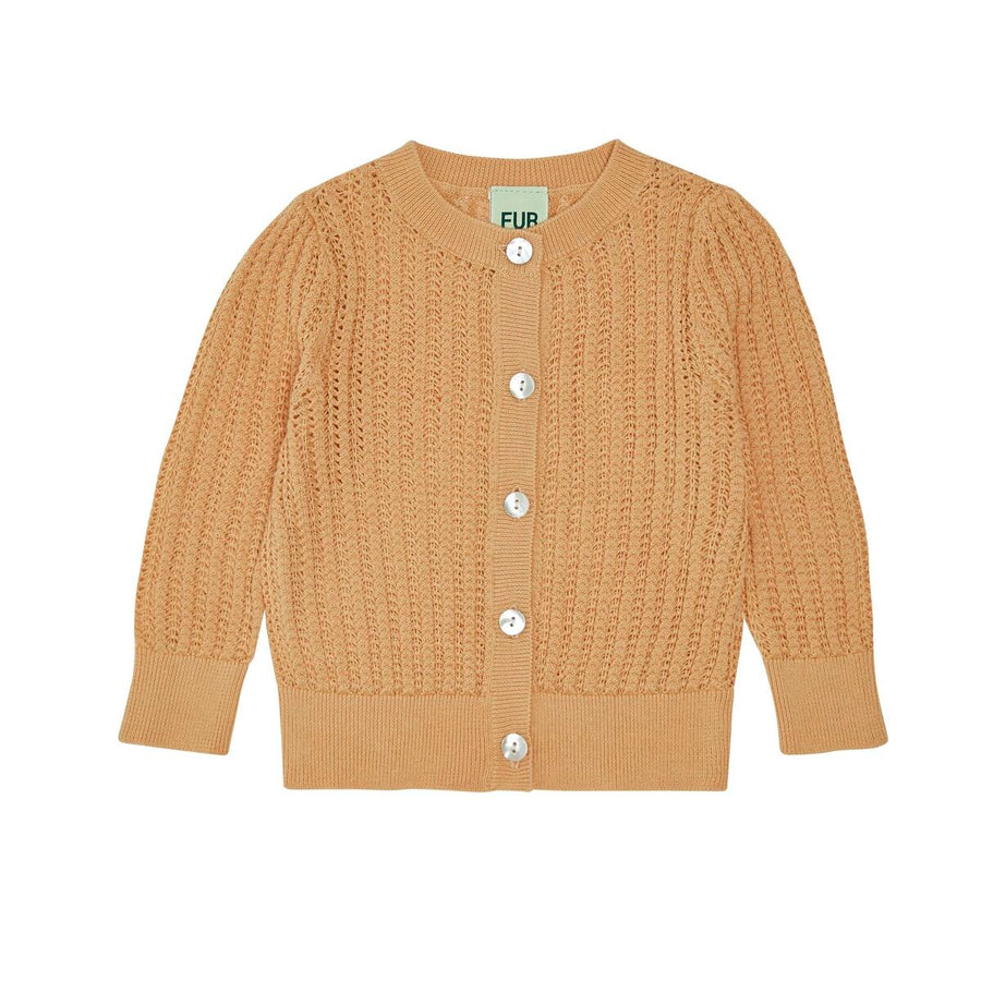 BABY POINTELLE CARDIGAN YELLOW