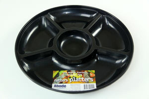 Platter Black 5 Section