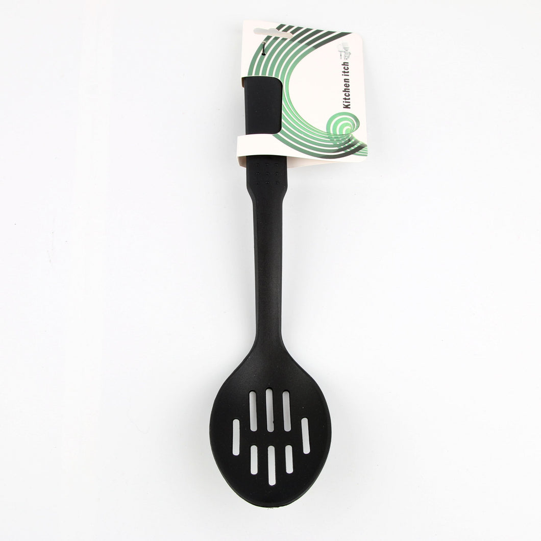 Cooking Spoon Slot Nylon Black