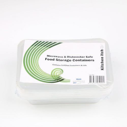 Takeaway Containers 650ml 5pcs