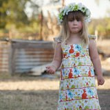 Aussie animals Pinafore. Sizes 1 to 4 - MillyCruze Clothing