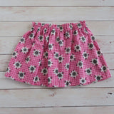 Flannel Flower Skirt - Sizes 00 to 5 - MillyCruze Clothing