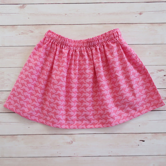 Pink Roo's Skirt - MillyCruze Clothing