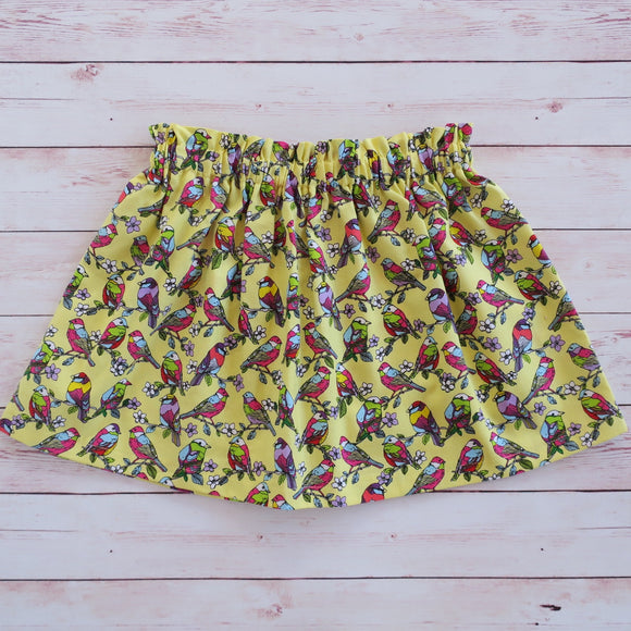 Gouldian Finch Skirts - Size 2 & 3 - MillyCruze Clothing