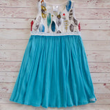 Feather Cross over dress with cheesecloth skirt - Sizes 5 - MillyCruze Clothing