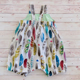 Feathers Romper - Size 3 - MillyCruze Clothing