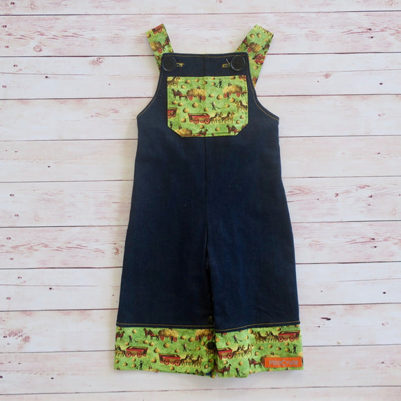 Denim Farmer Overalls - Size 00 - MillyCruze Clothing