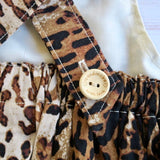 Leopard Print Pinafore Dress - Size 0 - MillyCruze Clothing
