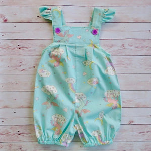 Unicorns and rainbows romper - Size 2 - MillyCruze Clothing