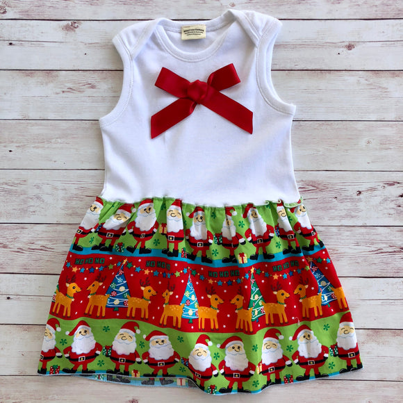 Christmas Santa Dress - Size 1 - MillyCruze Clothing