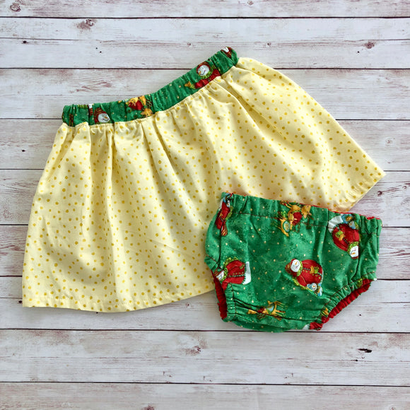 Christmas Snowman, Skirt Or nappy cover - MillyCruze Clothing