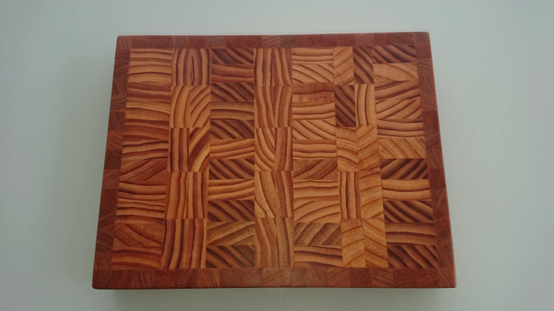 Mixed Hardwood End Grain Cutting Board #0015