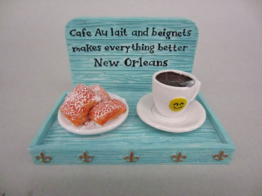 Cafe Au Lait Coffee and Beignets Magnet