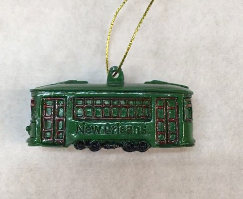 Iconic New Orleans Streetcar Ornament