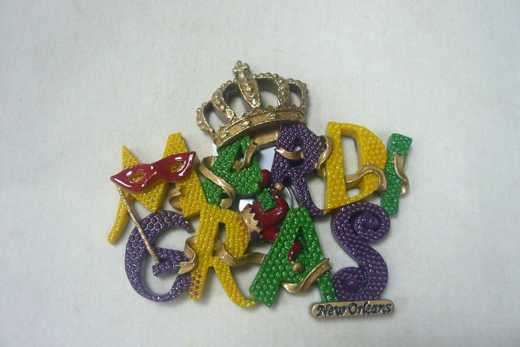 Mardi Gras with Crown Magnet