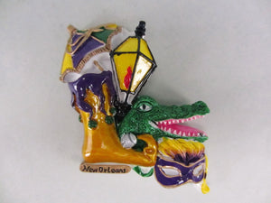 New Orleans Icons, Jestershoe, Parasol, Lamp, Alligator Magnet