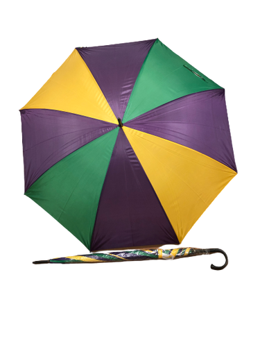 Purple, Green, and Gold Panels Golf Umbrella