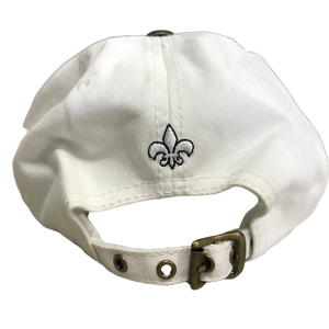 Adult Rhinestone Fleur de Lis Cap With Varied Fleur de Lis Print Around Cap - Available in White, Orange, Red, Green and Black