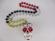 Sugar Skull Day of the Dead Black Medallion Beads (Multiple Color Options)