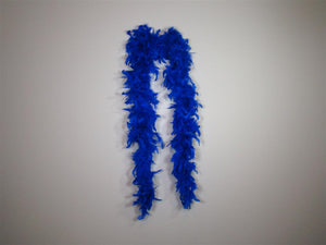 Royal Blue Solid Color Feather Boas