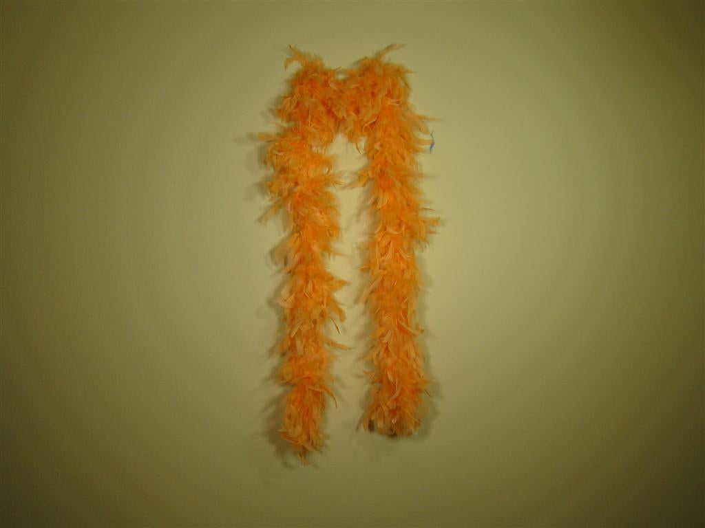 Orange Solid Color Feather Boas