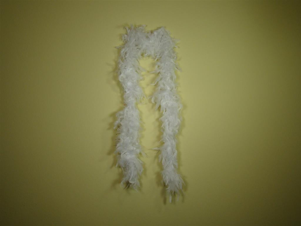 White Solid Color Feather Boas