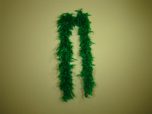 Green Solid Color Feather Boas
