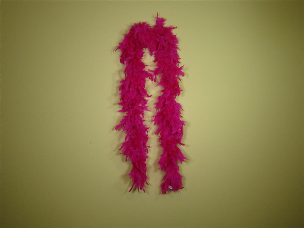 Bright Pink Solid Color Feather Boas