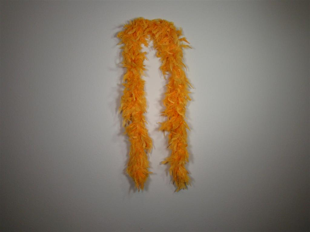 Orange Gold Solid Color Feather Boas