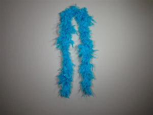 Aqua Blue Solid Color Feather Boas