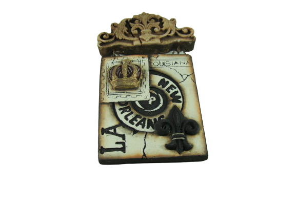 New Orleans Crown Stamp Plaque