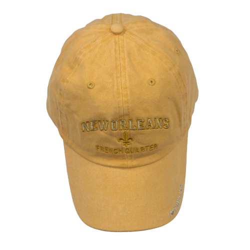 Adult Gold New Orleans French Quarter Cap W/Fleur de Lis and I Love N'awlins - Available in assorted colors
