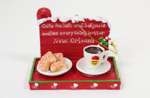 Cafe au Lait and Beignets Ornament