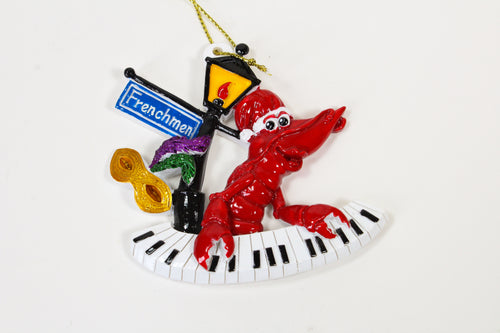 Crawfish Playing the Keyboard Ornament