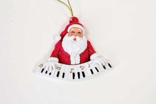 Santa Playing the Keyboard Ornament