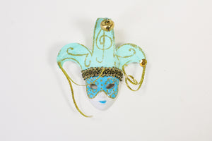 Face Mask Magnet with Jester Bells and Ribbons (Multiple Colors)