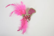 Face Mask Magnet with Royal Headpiece and Side Feathers (Multiple Colors)