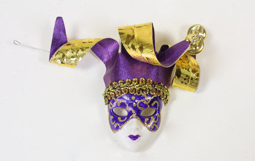 Face Mask Magnet with Swirly Jester Headpiece (Multiple Colors)