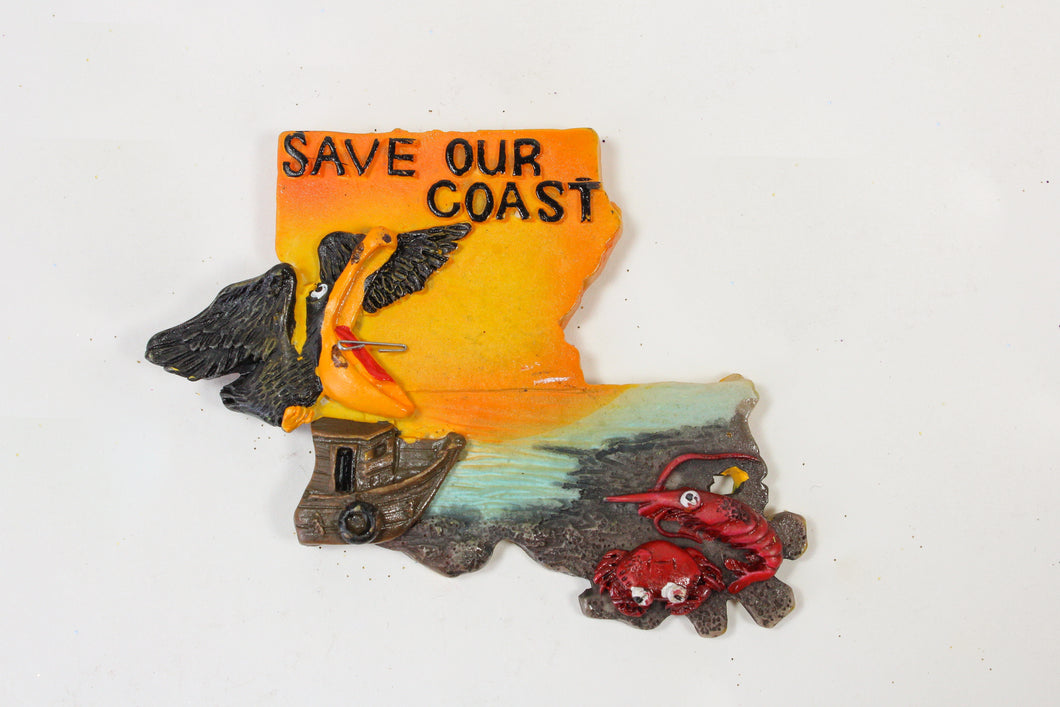 Save Our Coast Pelican Magnet