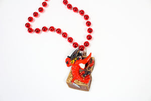 Crawfish Pirate in a Gold Chest Bead