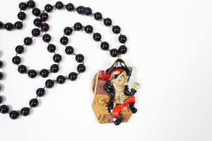 Skeleton Pirate with a Pistol Bead