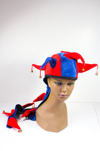 Blue and Red Dragon Tail Carnival Hat
