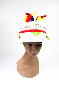 Birthday Cake Hat with Candles