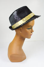 Sequined Black and Gold Fedora