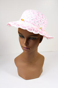 Child's Light Pink Straw Hat